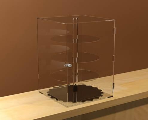 Négyzet alakú, biztonságos, forgatható display