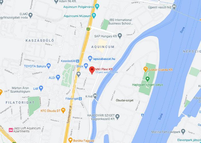 MKI Plexi térkép