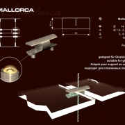 MALLORCA- Kétoldalas polctartó