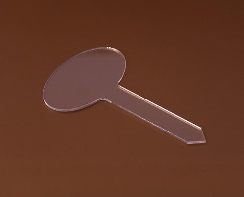 Matricázható plexi fagyi íztábla