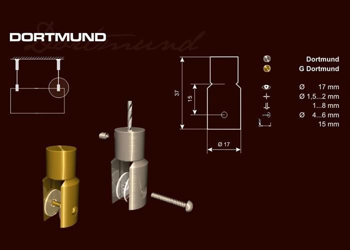 DORTMUND-Sodronyrögzítő táblatartó