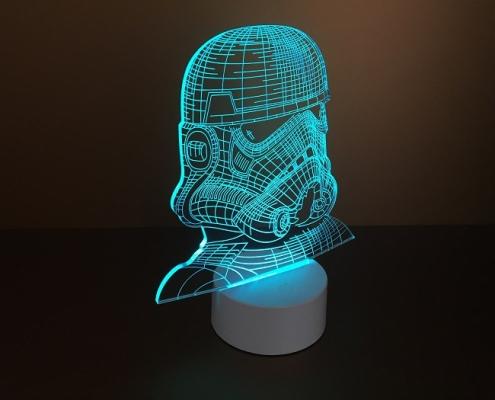 Plexi lap LED-es talppal, gravírozva